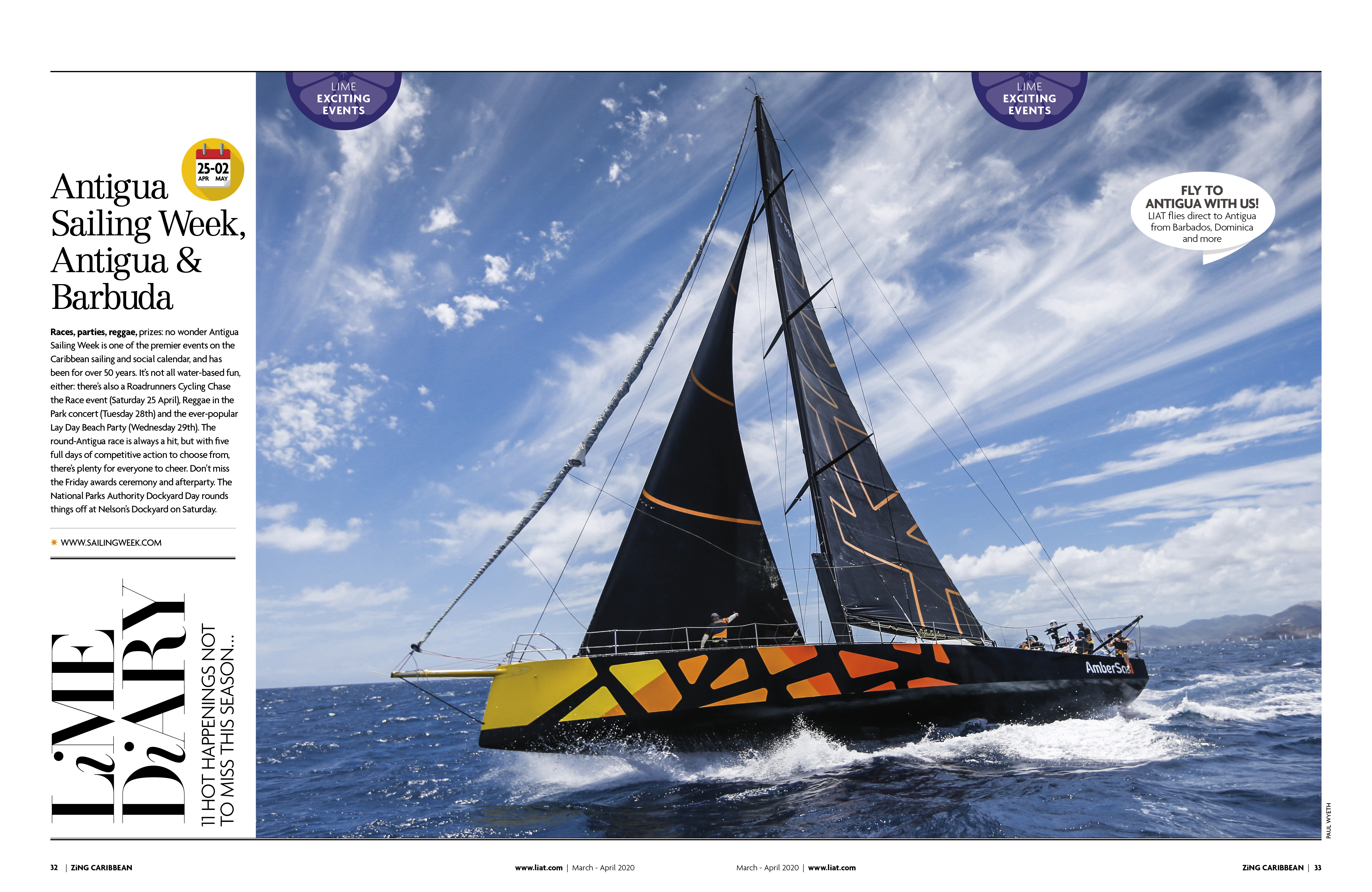 LIAT AIRLINES: ZING OPENING SPREAD