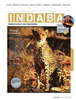 TRAVEL AFRICA: FRONT END PAGE