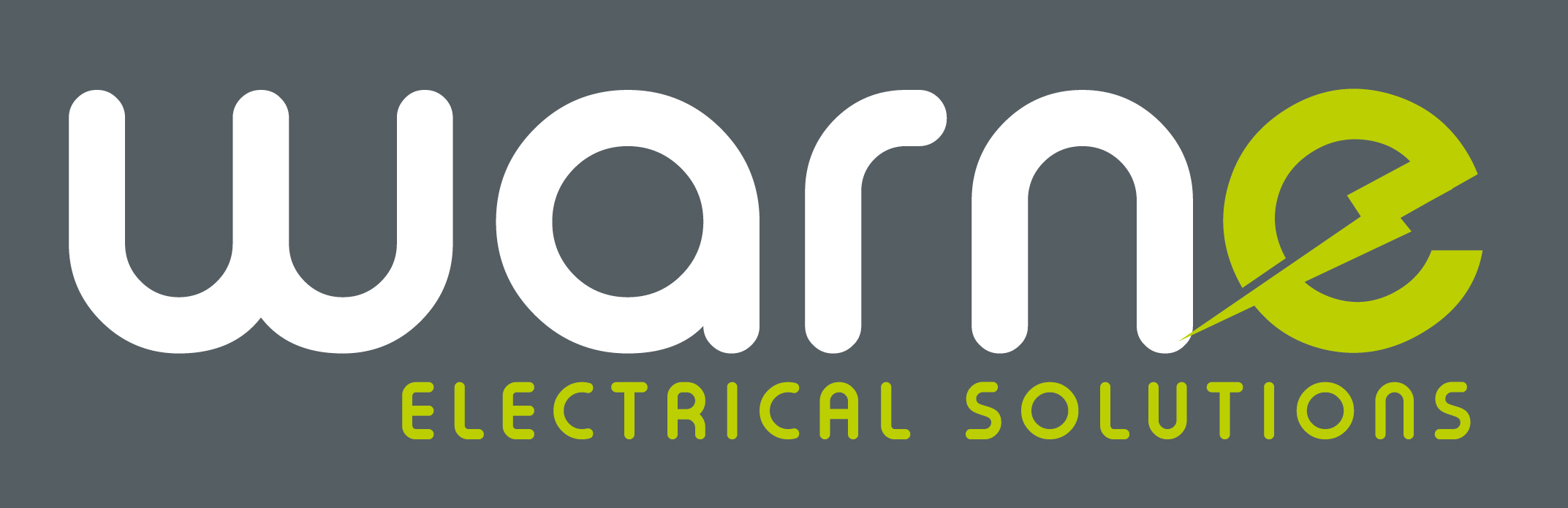 WARNE ELECTRICAL SOLUTIONS: LOGO IN WHITE