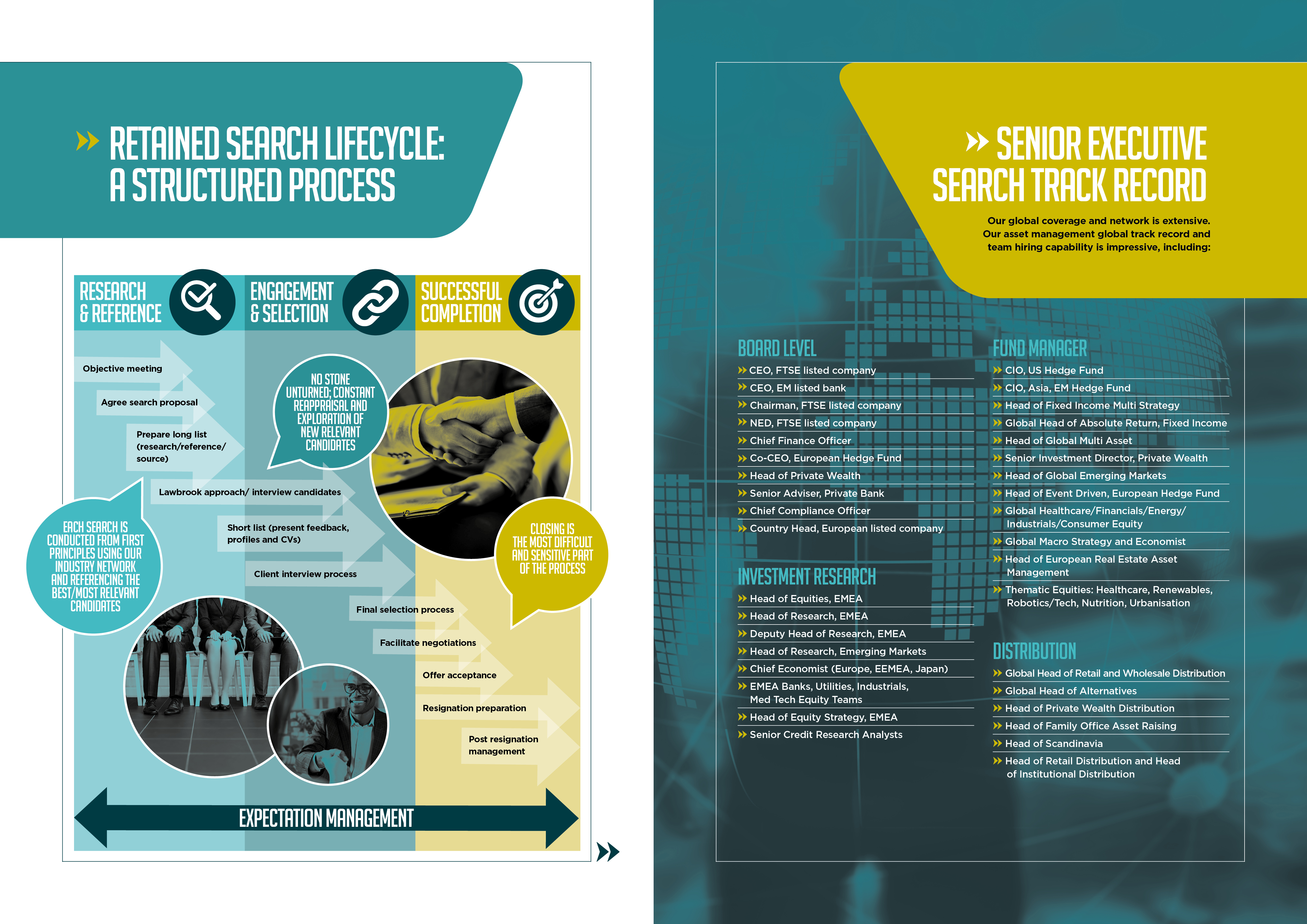 LAWBROOK PARTNERS: CORPORATE BROCHURE SPREAD 3