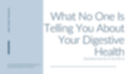 What No One Is Telling You About Your Di