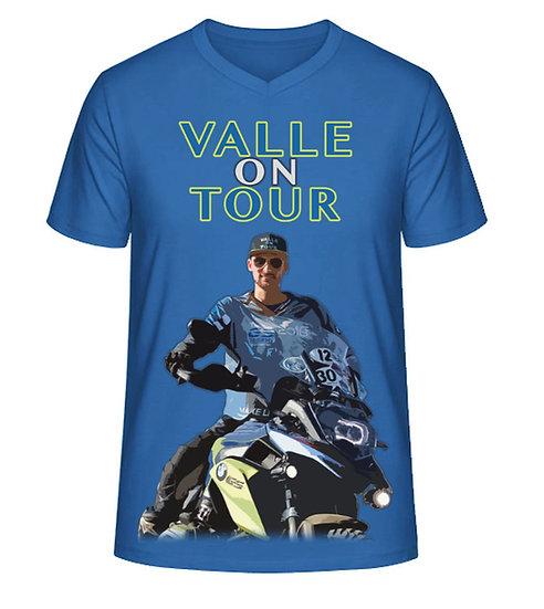 Valle on Tour T-Shirt mit V-Ausschnitt für Männer  aus Biobaumwolle