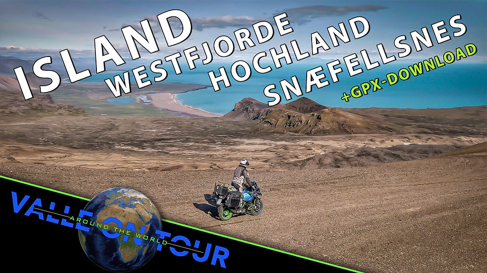 Download (GPX): Island + Westfjorde + Hochland + Snæfellsnes