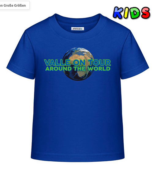 Valle on Tour T-Shirt für Kinder aus Baumwolle