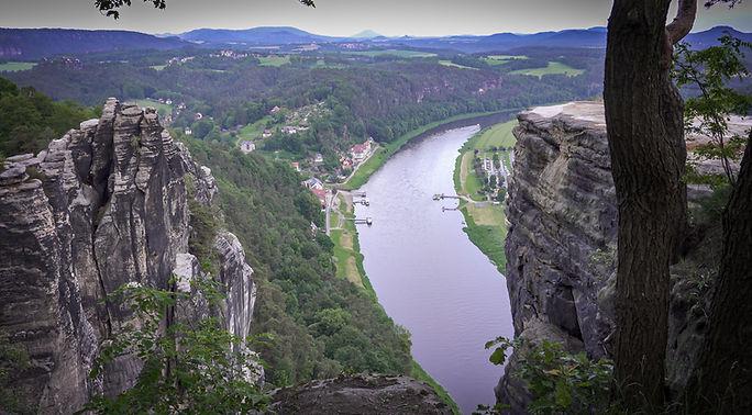 Basteiaussicht auf die Elbe