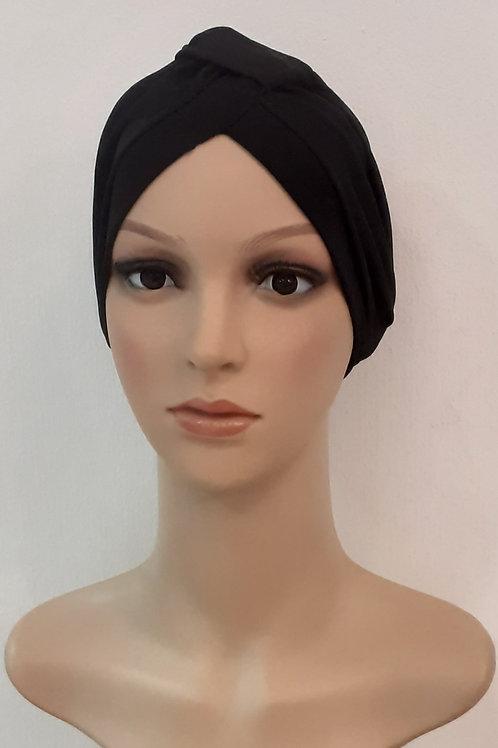 Turbantes Poliéster Spandex Negro
