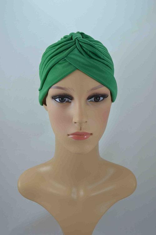 Turbante Plisado Verde