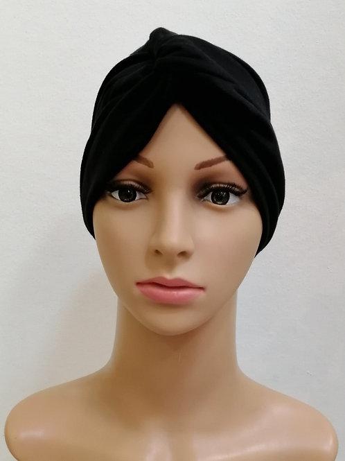 Turbante Algodón Negro