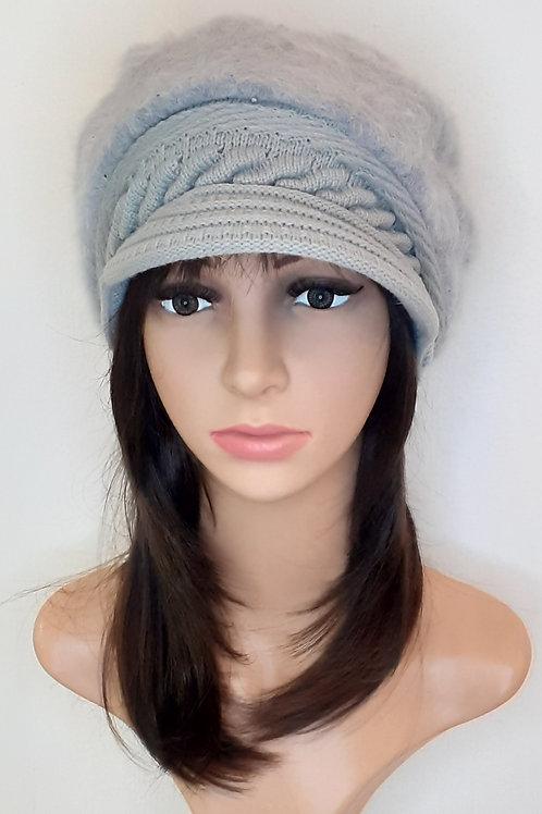 Sombrero Angora con Visera Gris