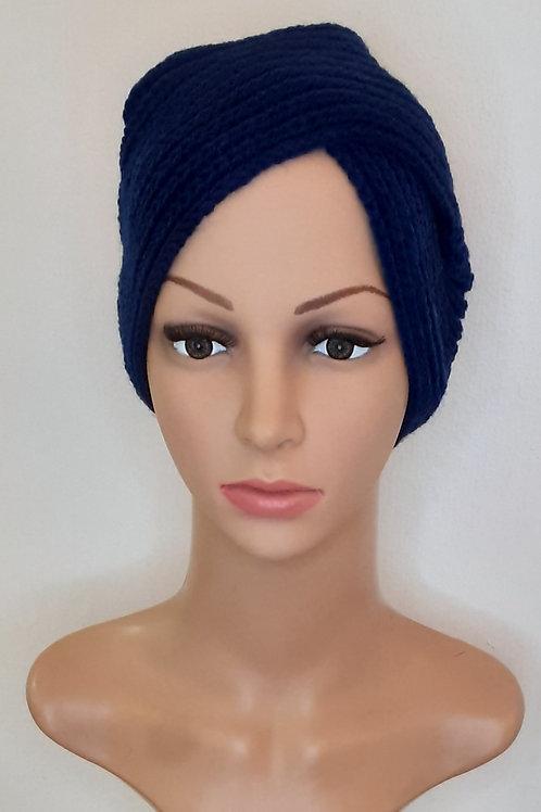 Turbante de Lana Azul