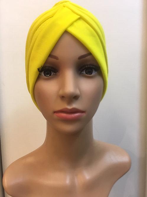 Turbante Plisado Amarillo Pato