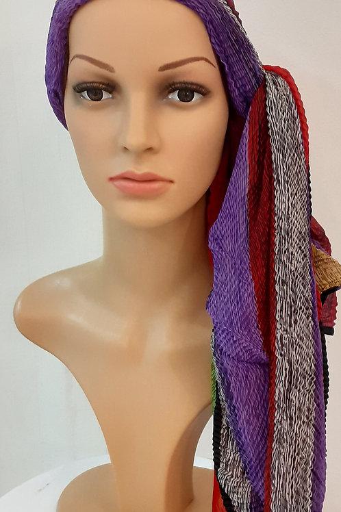 Pañuelo Liso Multicolor Morado