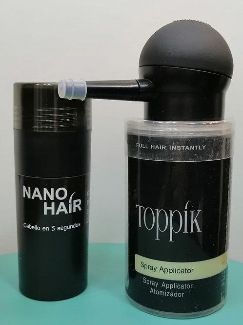 Aplicador Toppik + Nano Hair 30 Grs