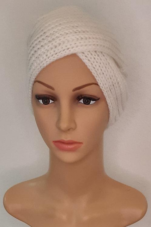 Turbante de Lana Blanco