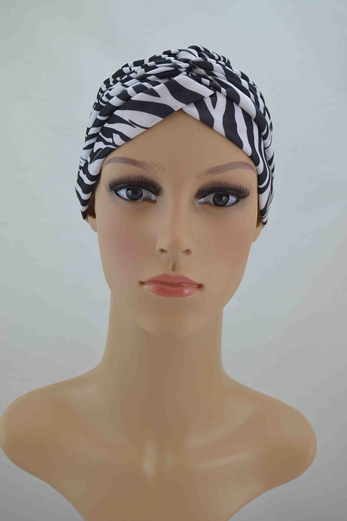 Turbante Plisado Animal Print