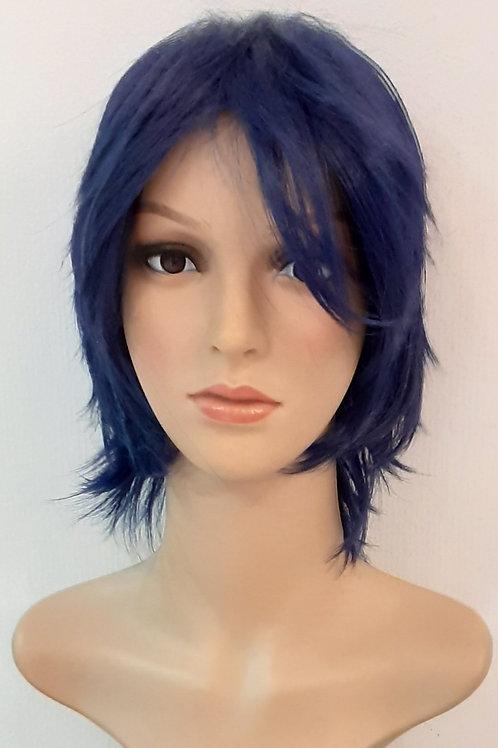 Peluca Kanekalon Fanny Azul Oscuro