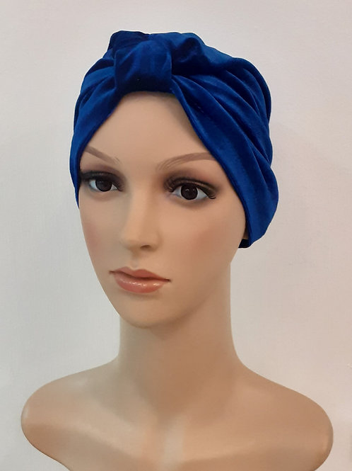 Turbante Plush Liso Azul Rey