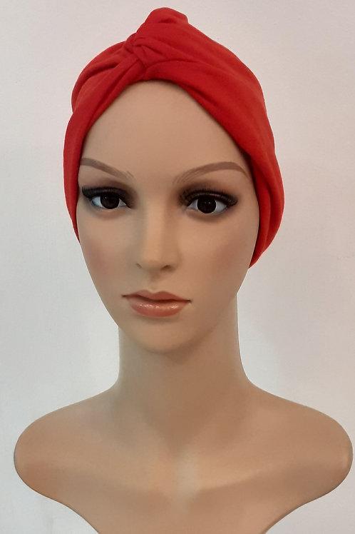 Turbante Algodón Rojo