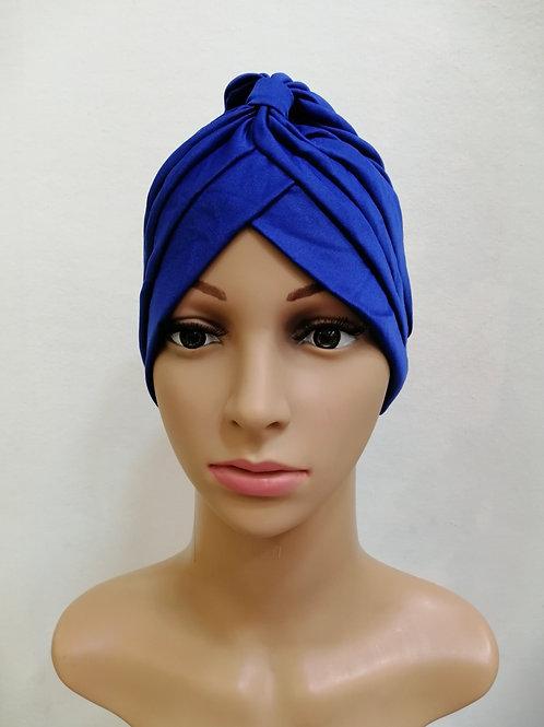 Turbante Plisado Azul Rey