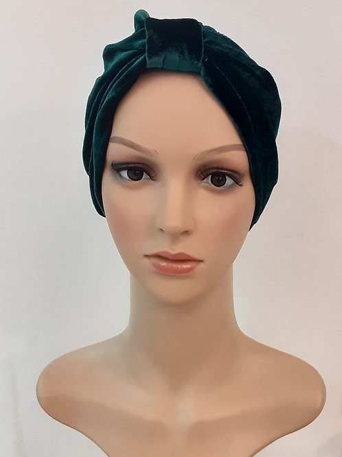 Turbante Plush Liso Verde