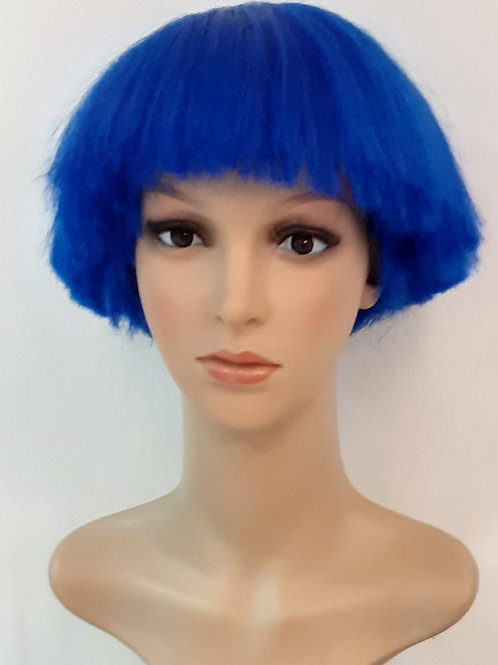 Peluca Kanekalon Fran Azul Metálico
