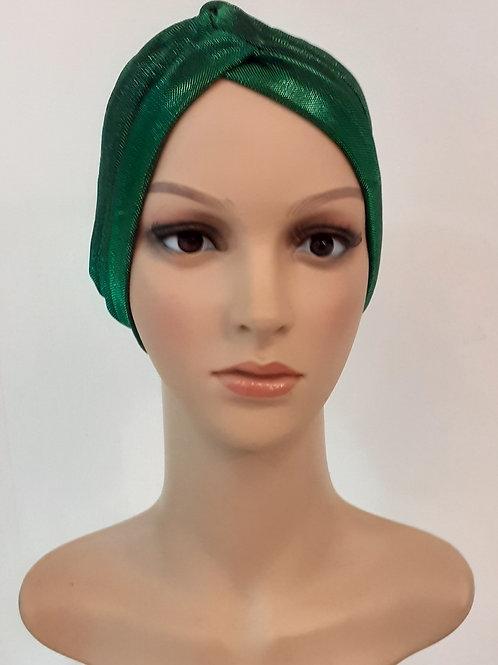Turbante Fiesta Plisado Verde