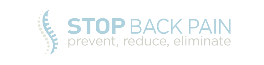 Stop back pain prim HORIZ logo with tag.