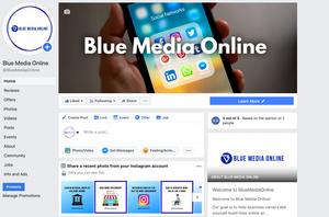 facebook ads, info and ads, Blue Media Online, facebook page