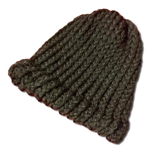 Kid Loom Knitted Black Hat