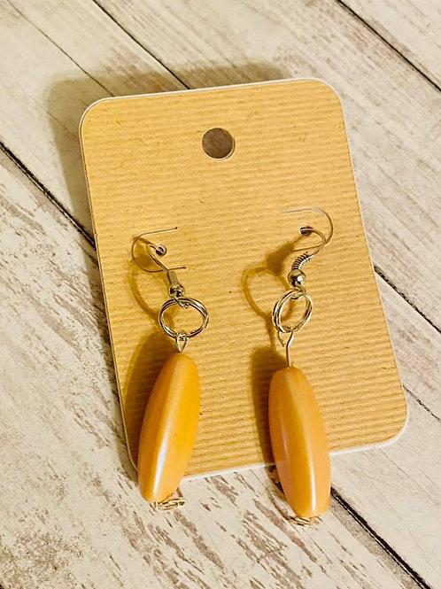 Peach Almond Earrings