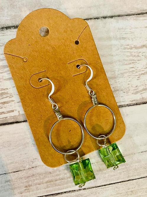 Small Hoop Light Green Earrings