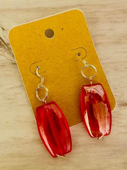 Big Red Earrings