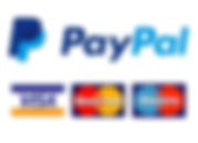 Paypal logo - Visa, Mastercard and Maestro accepted payment options