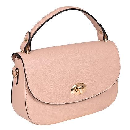 Andrea Cardone Italia კლასიკური ჩანთა ოქროსფერი ბალთით ანტიკური ვარდისფერი