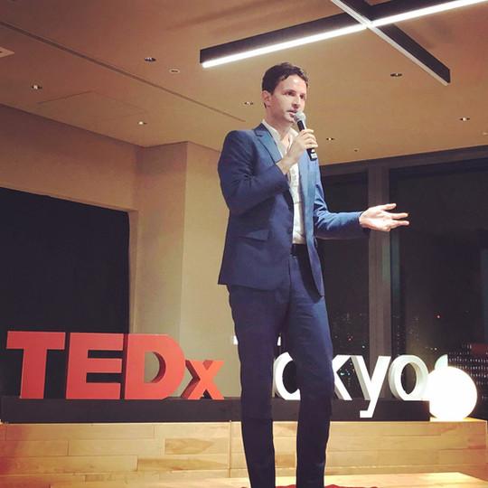 Pitch presentation in TEDx Tokyo