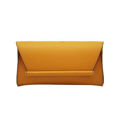 Andrea Cardone Italia ჩანთა ოქროსფერი ჯაჭვით მდოგვისფერი