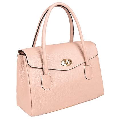 Andrea Cardone Italia კლასიკური ჩანთა ორმაგი სახელურით ანტიკური ვარდისფერი