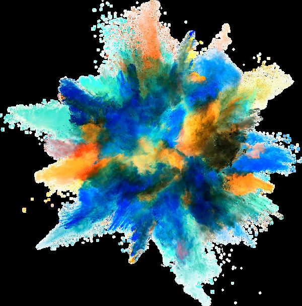 Paint explosion graphic
