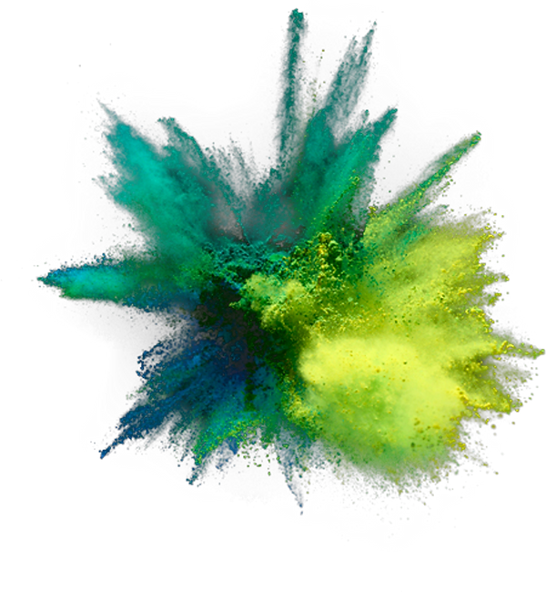 Paint explosion graphic