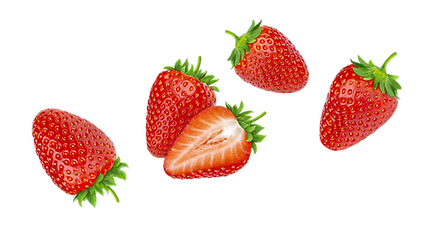 strawberries-isolated-white-background c