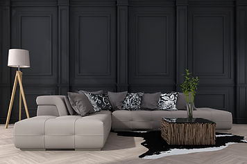 3d-rendering-classic-black-wall-with-sof