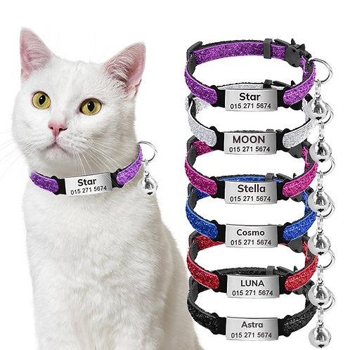 Zgardă Sparkle Personalizată, Pentru Pisici, Cu Clopoțel, Breakfree