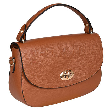 Andrea Cardone Italia კლასიკური ჩანთა ოქროსფერი ბალთით ყავისფერი