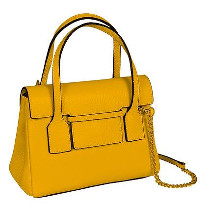 Andrea Cardone Italia ტყავის ჩანთა მდოგვისფერი