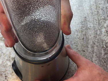 Properly locking the assembled jar into the motor base.  Blender will not function if done incorrectly.