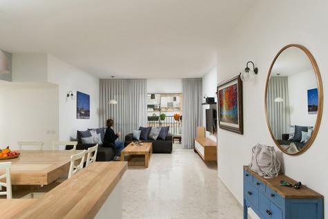 עיצוב דירה כפרית בעיר