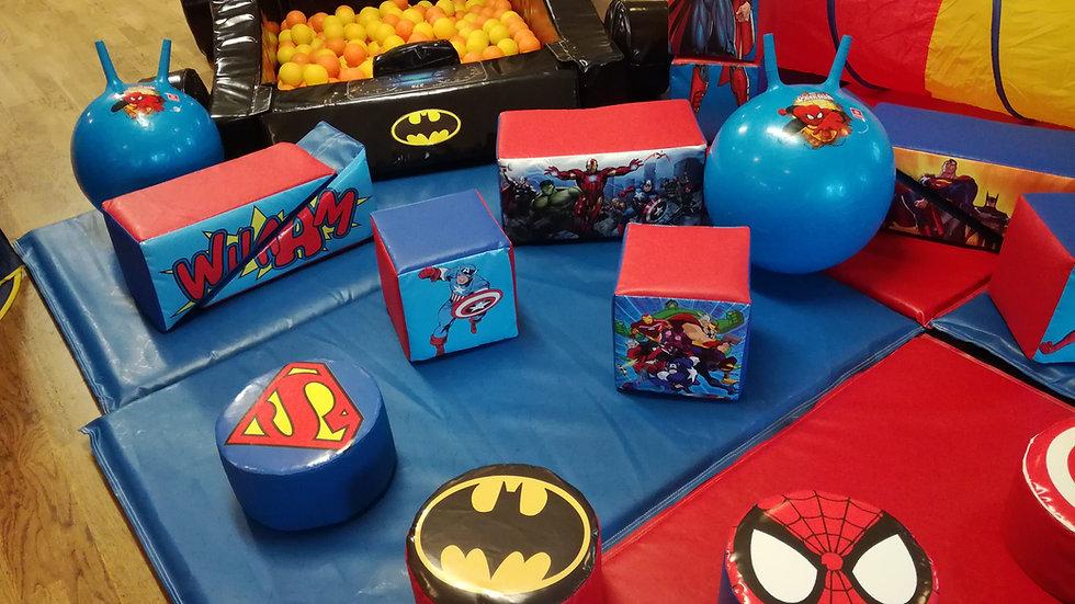 Superhero soft play set