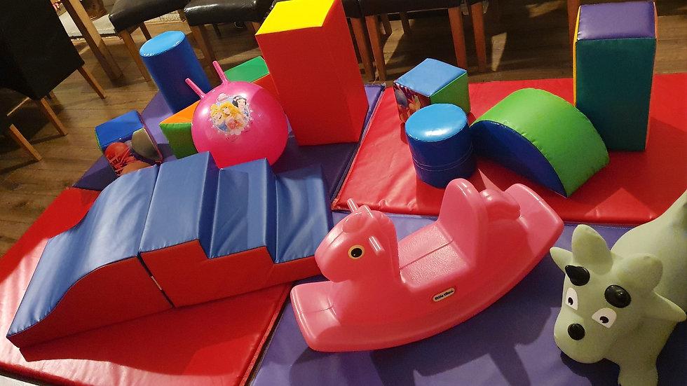 Mini soft play set - budget multi-colour