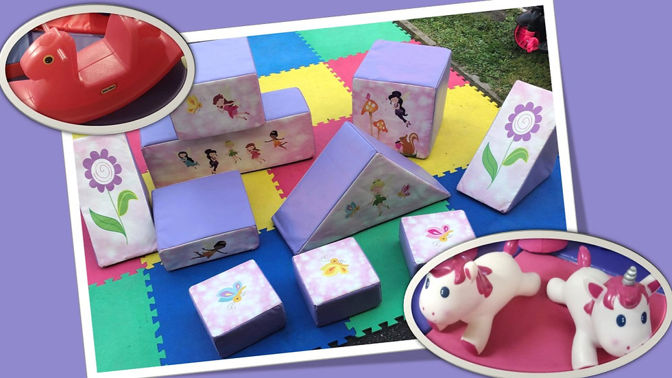 Mini soft play set - fairies and unicorns