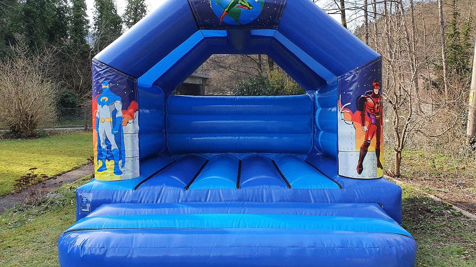 Superhero theme 12ft x 12ft A-frame bouncy castle
